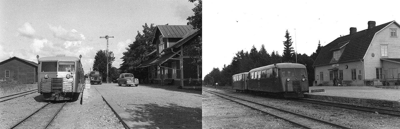 Havdhem och Lärbro stationer 1957. Foto Olof Sjöholm från SJK/Stig Nybergs arkiv