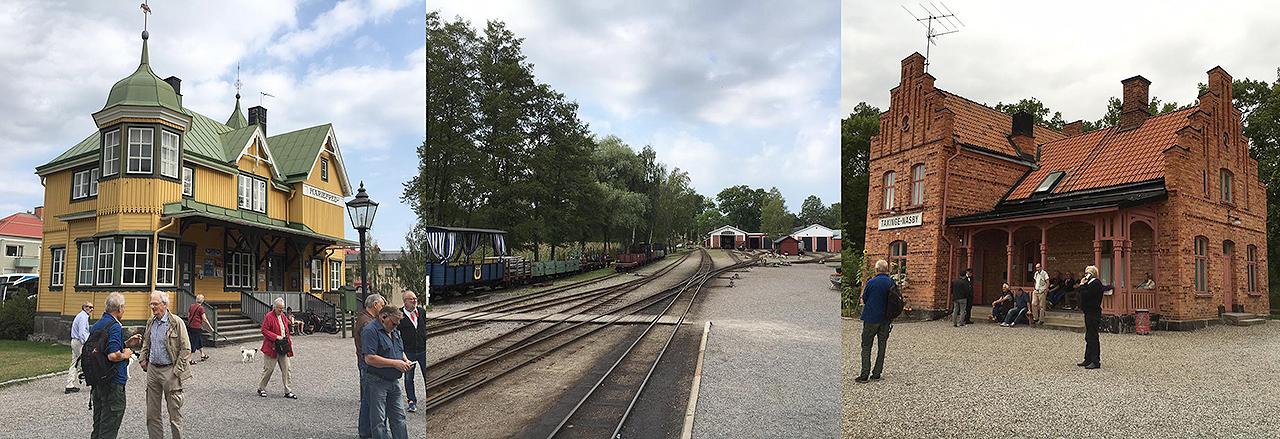 Mariefreds station och bangård, samt Taxinge station. Foto: Anders Svensson den 11 sept. 2016