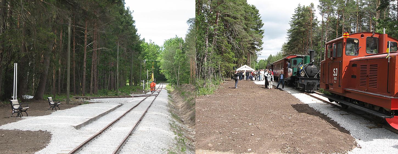 Till vänster: Munkebos hpl den 16 juni 2007. Till höger: 17 juni 2007. Vid Munkebos hpl vid invigningen.