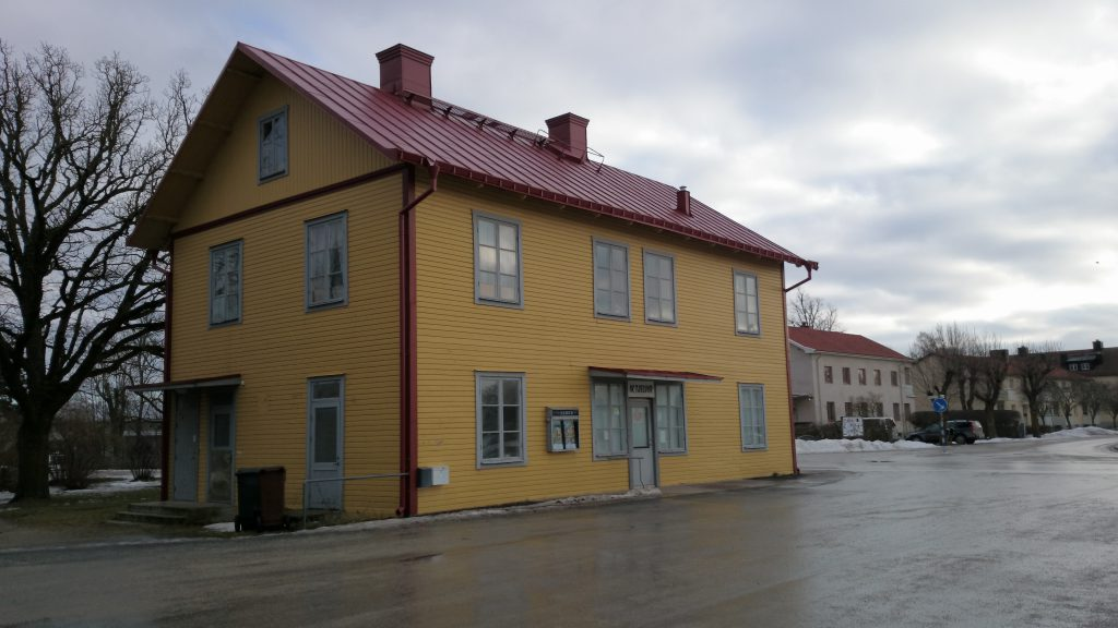 Klintehamns fd station den 8 februari 2014