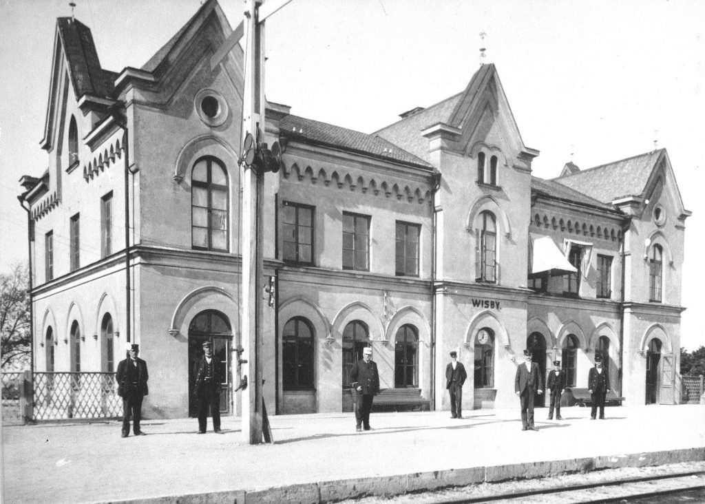 Wisby station around 1900. Pictures from The Gotland Heritage Railway archive.